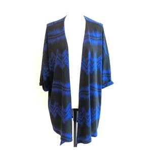 Royal blue and black Aztec cover-up. NWT